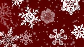 Fondo de los copos de nieve de la Navidad