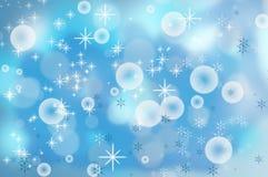 Fondo de los copos de nieve de la Navidad Fotografía de archivo