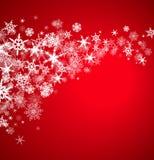 Fondo de los copos de nieve de la Navidad Fotos de archivo libres de regalías