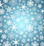 Fondo de los copos de nieve de la Navidad del oro Fotos de archivo libres de regalías