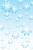 Fondo de los copos de nieve del invierno Foto de archivo libre de regalías