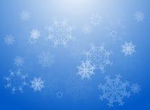 Fondo de los copos de nieve del vector Fotografía de archivo libre de regalías