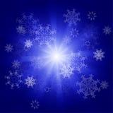 Fondo de los copos de nieve del vector Imágenes de archivo libres de regalías