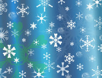 Fondo de los copos de nieve para la Navidad Fotografía de archivo libre de regalías
