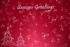 Fondo de los copos de nieve y de los árboles de navidad libre illustration