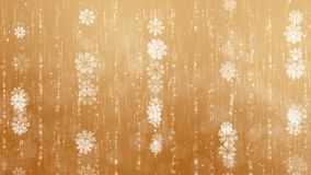 Fondo de los copos de nieve del oro metrajes