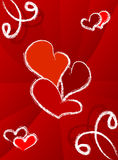 Fondo de los corazones Imagen de archivo