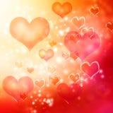 Fondo de los corazones Fotos de archivo