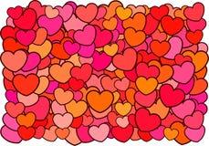 Fondo de los corazones stock de ilustración