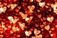 Fondo de los corazones Foto de archivo libre de regalías