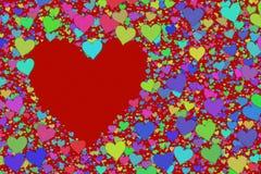 Fondo de los corazones Fotos de archivo libres de regalías