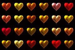 Fondo de los corazones Foto de archivo