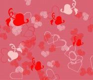 Fondo de los corazones Fotografía de archivo