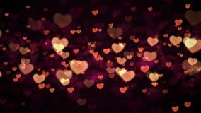 Fondo de los corazones almacen de metraje de vídeo
