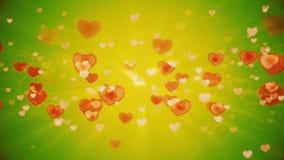 Fondo de los corazones almacen de video