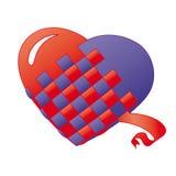 Fondo de los corazones aislado en blanco Fotos de archivo libres de regalías