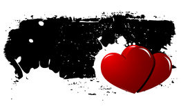 Fondo de los corazones de Grunge Foto de archivo libre de regalías
