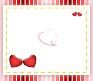 Fondo de los corazones de la tarjeta del día de San Valentín Foto de archivo libre de regalías