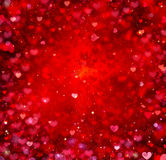 Fondo de los corazones de la tarjeta del día de San Valentín Foto de archivo