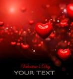 Fondo de los corazones de la tarjeta del día de San Valentín stock de ilustración