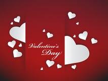 Fondo de los corazones de la tarjeta del día de San Valentín Imagenes de archivo