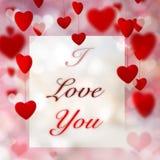 Fondo de los corazones de la tarjeta del día de San Valentín ilustración del vector