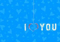 Fondo de los corazones de la tarjeta del día de San Valentín Imágenes de archivo libres de regalías