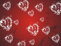 Fondo de los corazones de la tarjeta del día de San Valentín Imagen de archivo libre de regalías
