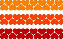 Fondo de los corazones de la tarjeta del día de San Valentín Fotografía de archivo