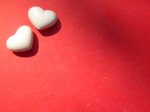 Fondo de los corazones de la tarjeta del día de San Valentín dos Imagen de archivo libre de regalías