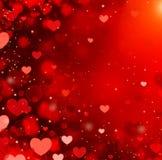 Fondo de los corazones de la tarjeta del día de San Valentín Fotos de archivo libres de regalías
