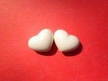 Fondo de los corazones de la tarjeta del día de San Valentín dos Imagen de archivo