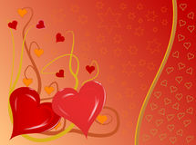 Fondo de los corazones de las tarjetas del día de San Valentín Foto de archivo libre de regalías