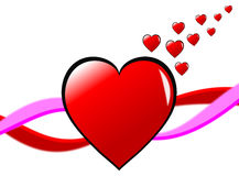 Fondo de los corazones de las tarjetas del día de San Valentín Fotografía de archivo libre de regalías