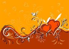 Fondo de los corazones de las tarjetas del día de San Valentín Fotos de archivo libres de regalías