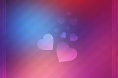Fondo de los corazones del amor de la tarjeta del día de San Valentín Imagenes de archivo