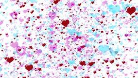 Fondo de los corazones del amor que vuela libre illustration