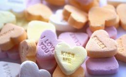 Fondo de los corazones del caramelo   Fotos de archivo