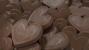 Fondo de los corazones del chocolate Fotografía de archivo
