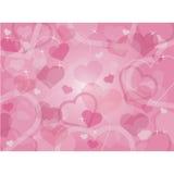 Fondo de los corazones del día de tarjeta del día de San Valentín stock de ilustración
