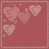 Fondo de los corazones del día de tarjeta del día de San Valentín Imagen de archivo