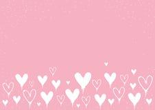 Fondo de los corazones del día del ` s de la tarjeta del día de San Valentín de la pintura de espray con el espacio de la copia stock de ilustración