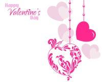 Fondo de los corazones del diseñador de la tarjeta del día de San Valentín stock de ilustración