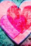 Fondo de los corazones del Grunge Imagen de archivo libre de regalías