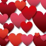 Fondo de los corazones del rojo y de los rosas Fotos de archivo