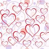 Fondo de los corazones. Inconsútil. Fotos de archivo