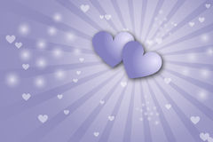 Fondo de los corazones - tema de la tarjeta del día de San Valentín Foto de archivo libre de regalías