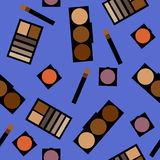 Fondo de los cosméticos Ejemplo plano Fotos de archivo libres de regalías