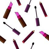 Fondo de los cosméticos Ejemplo plano Imagen de archivo libre de regalías