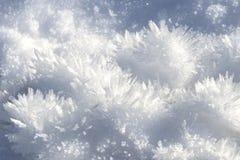 Fondo de los cristales de la nieve Imagenes de archivo